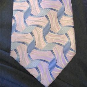 Pink and Blue Pantani Silk Tie